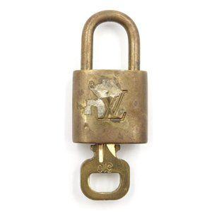 Louis Vuitton Gold Keepall Speedy Lock Key Set#310